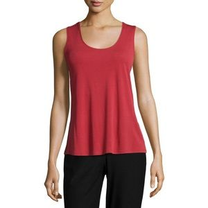 eileen fisher red sleeveless top